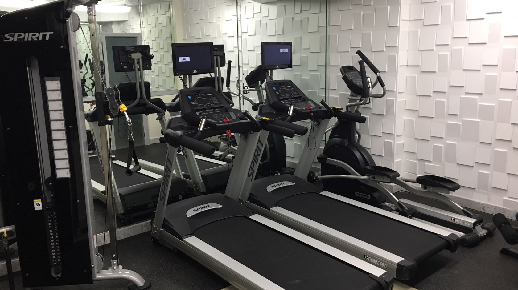 Treadmills at the fitness of the Beacon South Beach
